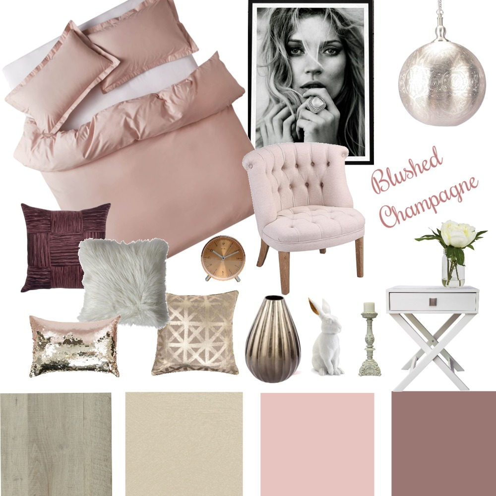 Blushed Champagne Interior Design Mood Board by iDesign Interiors on Style Sourcebook