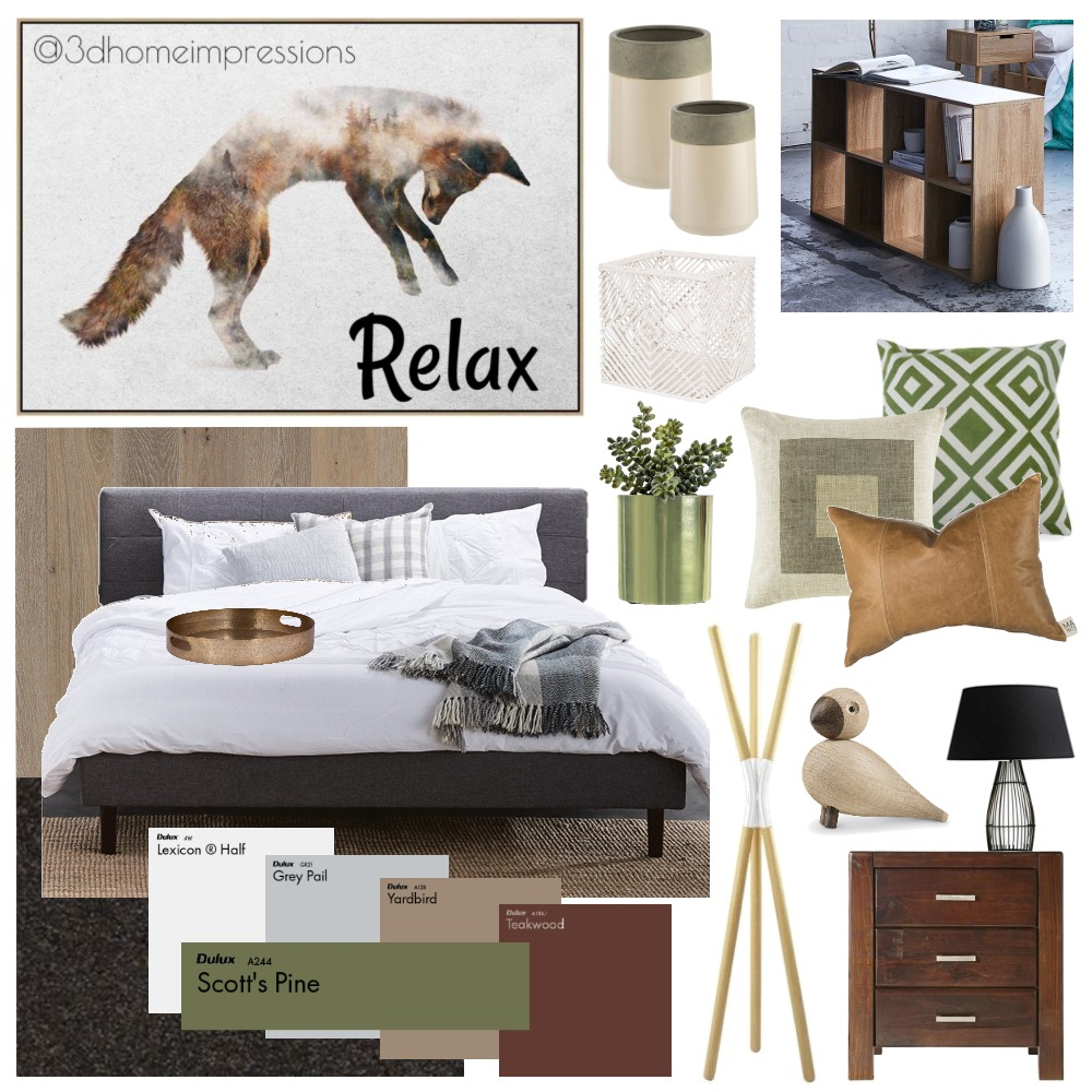 Master Bedroom Interior Design Mood Board by 3D Home Impressions on Style Sourcebook