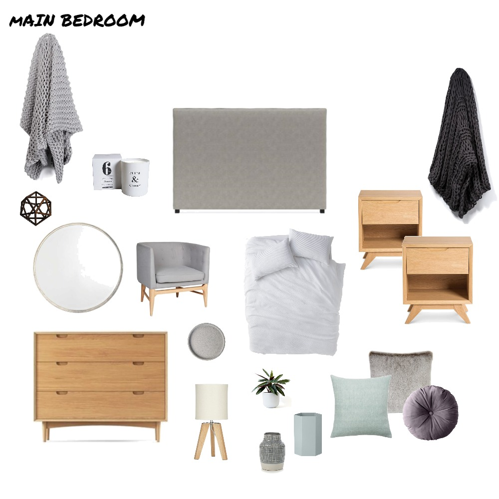 Main Bedroom Interior Design Mood Board by Ashleigh_091 on Style Sourcebook