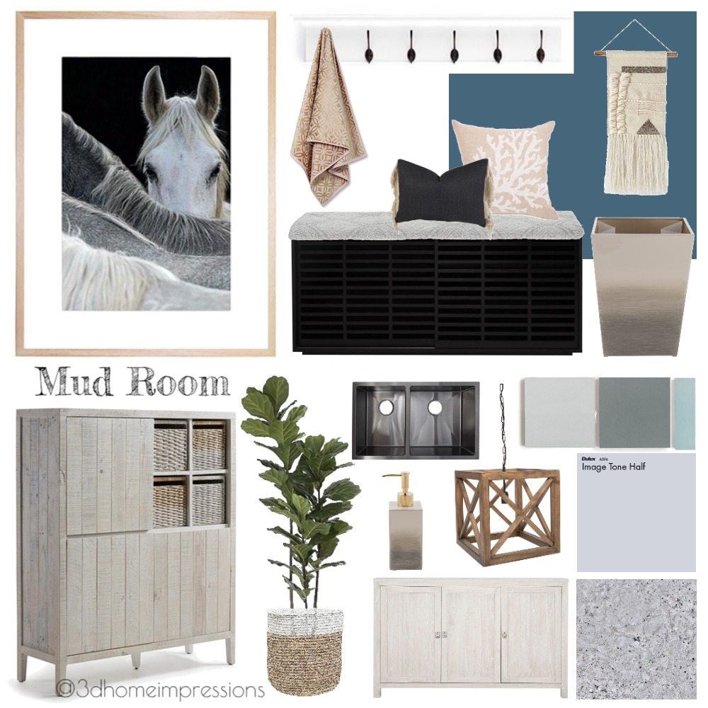 Mud Room Interior Design Mood Board by 3D Home Impressions on Style Sourcebook