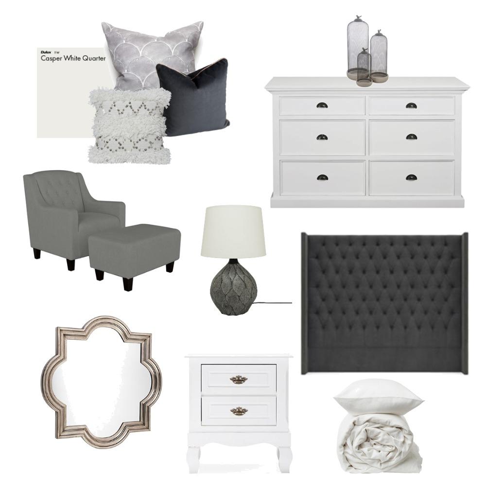 Grey Bedroom Interior Design Mood Board by Meyer Studio Designs on Style Sourcebook