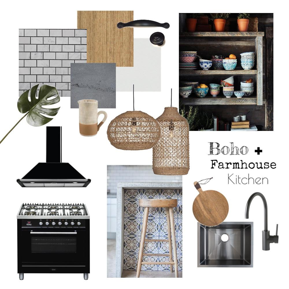 Boho Kitchen Interior Design Mood Board by interiorsbyayla on Style Sourcebook