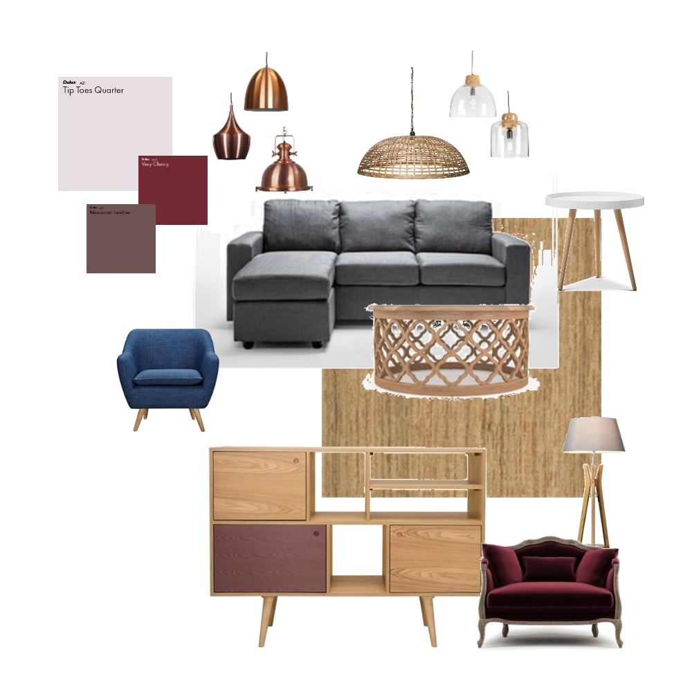 Berries colors with grey Interior Design Mood Board by Gerda on Style Sourcebook