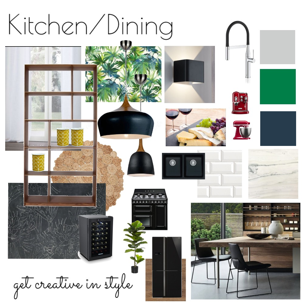 Kitchen Dining - Fifties House Interior Design Mood Board by NicolaBriggs on Style Sourcebook