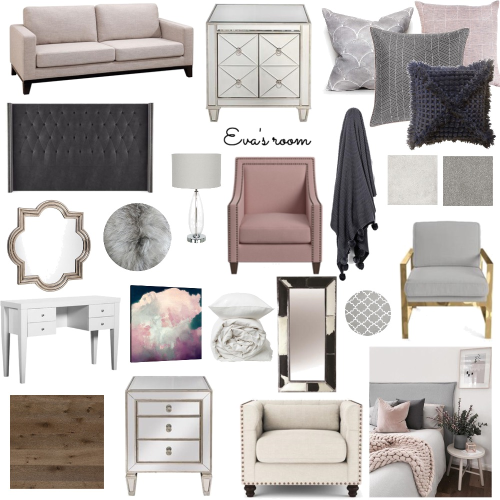 Eva's Room Interior Design Mood Board by SuiteHome on Style Sourcebook