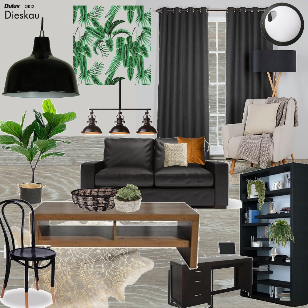 Moody masculine Interior Design Mood Board by karenc on Style Sourcebook
