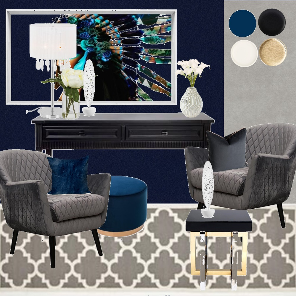 Luxury velvet lounge Interior Design Mood Board by puszedli on Style Sourcebook