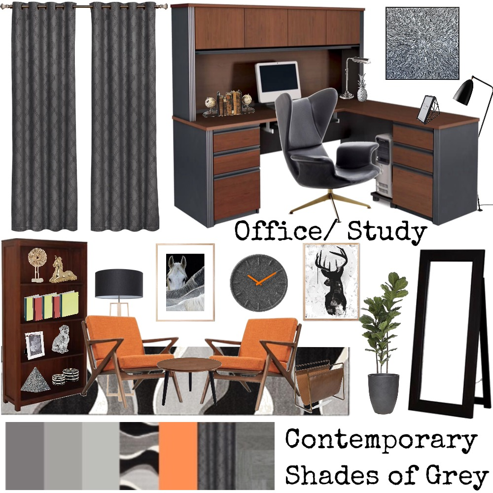Study room Interior Design Mood Board by Shenzy on Style Sourcebook