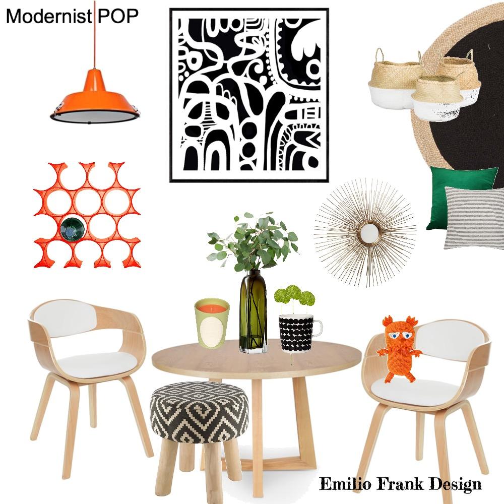 Modernist POP! Interior Design Mood Board by Emilio Frank Design on Style Sourcebook
