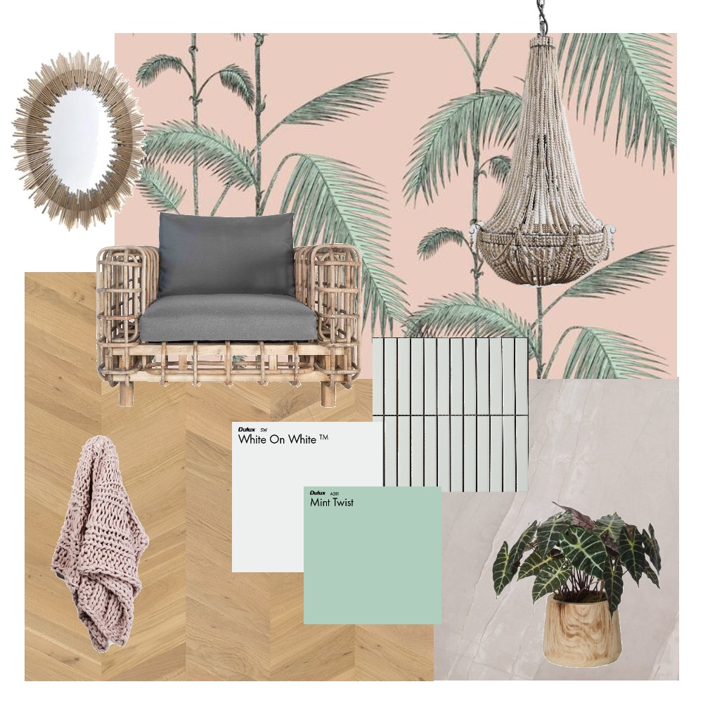 Pink boho Interior Design Mood Board by Two Wildflowers on Style Sourcebook