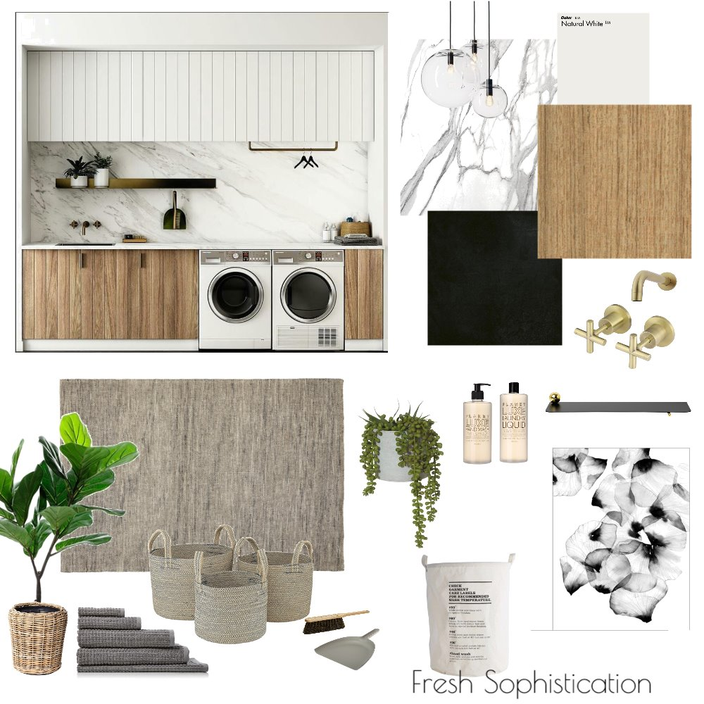 Fresh Sophistication - Laundry Interior Design Mood Board by Northern Rivers Bathroom Renovations on Style Sourcebook