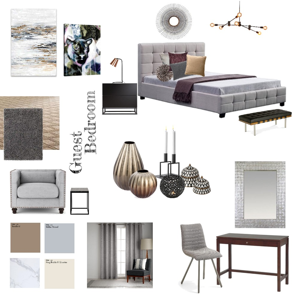 Guest Room Interior Design Mood Board by emina88p on Style Sourcebook