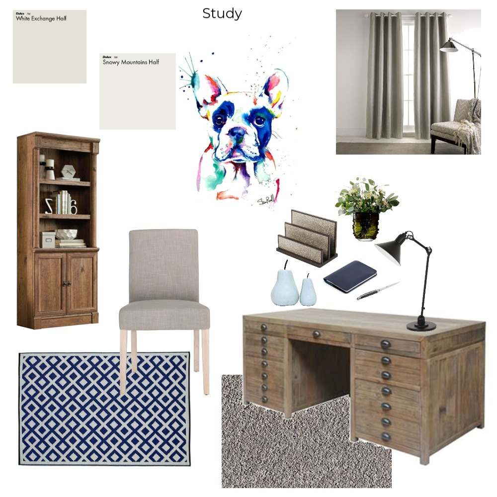 Study Interior Design Mood Board by Shannon on Style Sourcebook