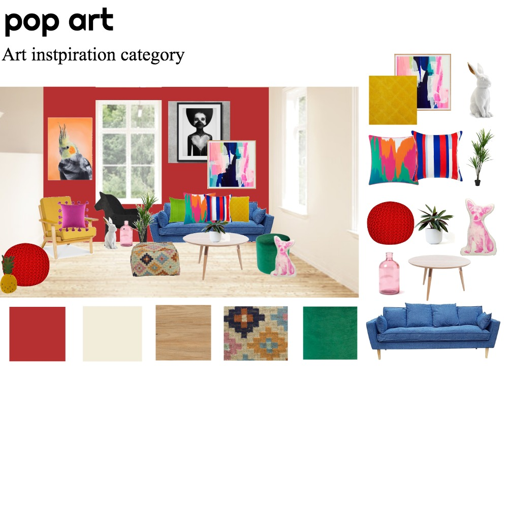 pop art Interior Design Mood Board by rere on Style Sourcebook
