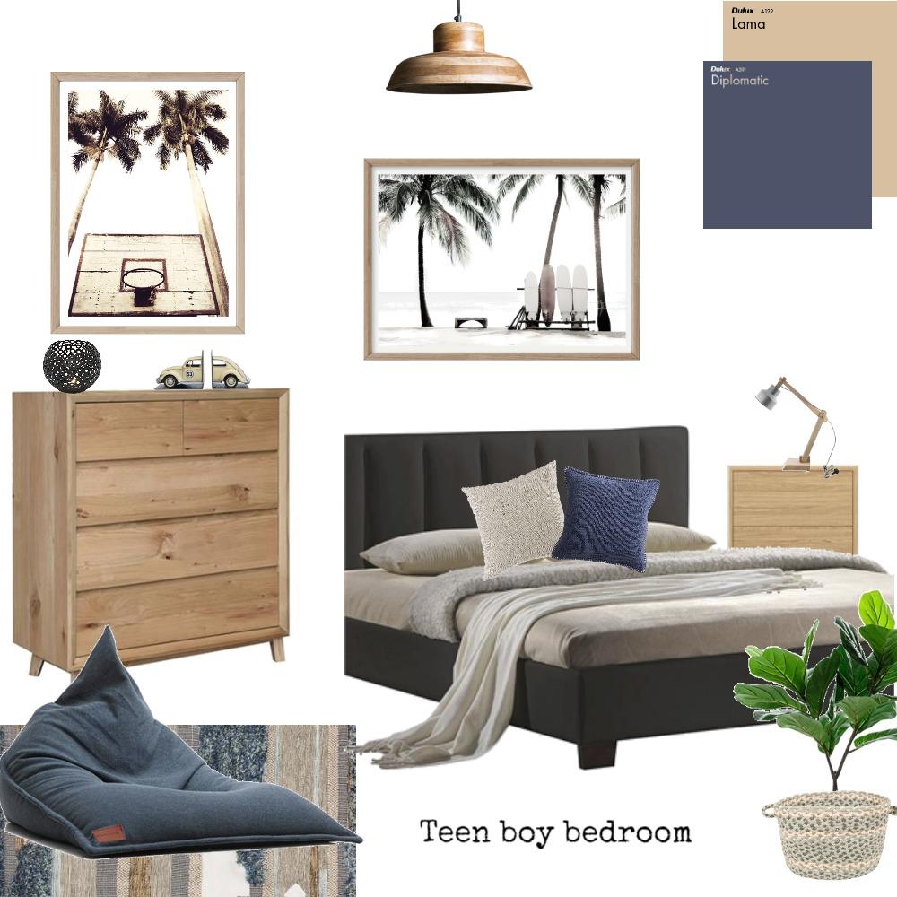 Teen boy bedroom Interior Design Mood Board by Boho Art & Styling on Style Sourcebook