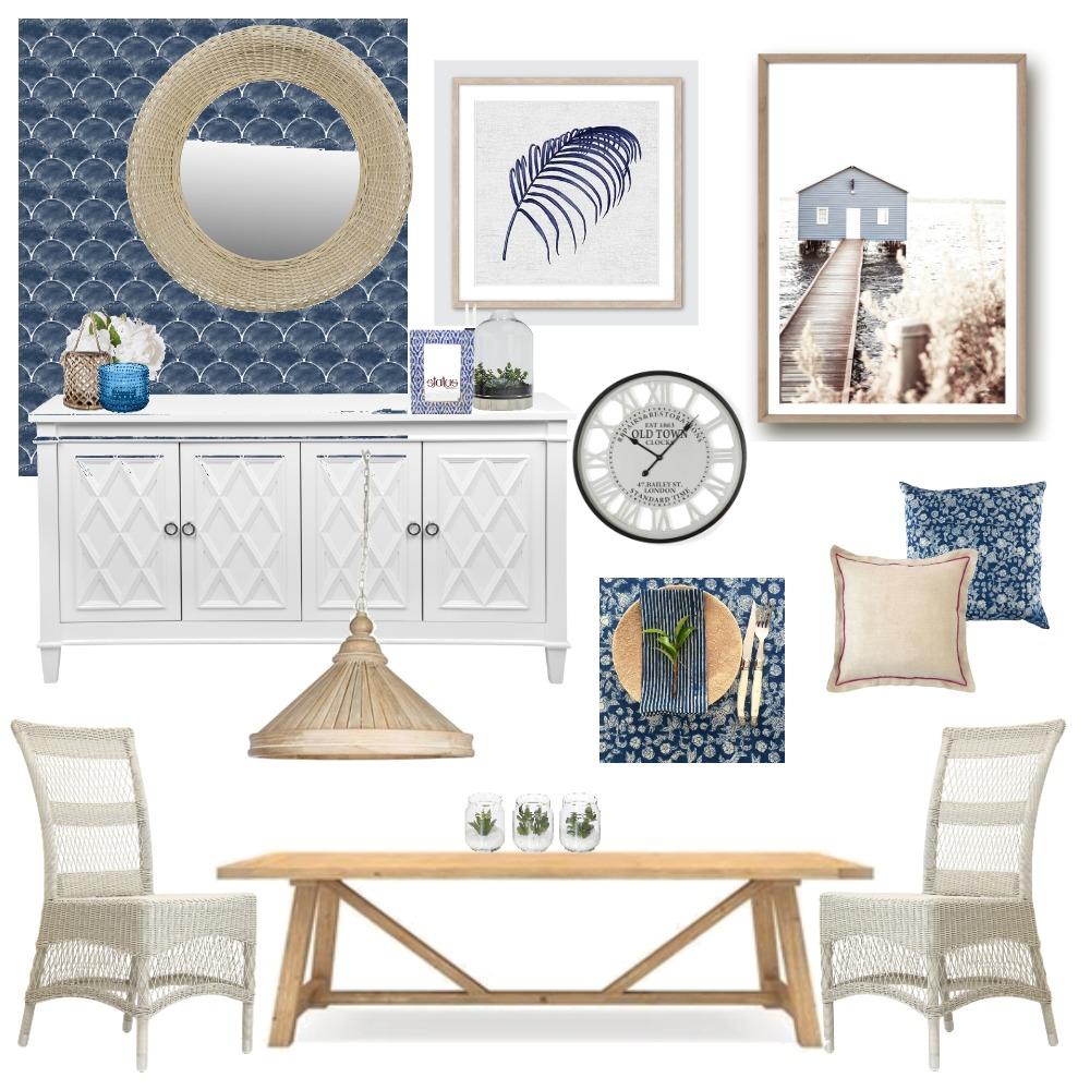 Hamptons Dining - Boho Twist Interior Design Mood Board by Lupton Interior Design on Style Sourcebook