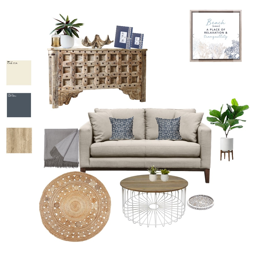 Coastal Hamptons Interior Design Mood Board by Style A Space on Style Sourcebook