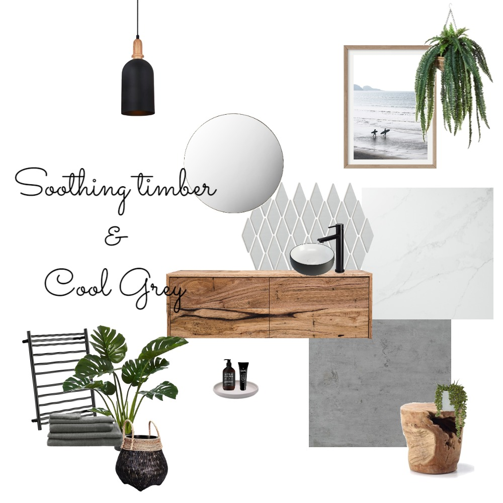 Soothing Timber & Cool Grey Interior Design Mood Board by Northern Rivers Bathroom Renovations on Style Sourcebook