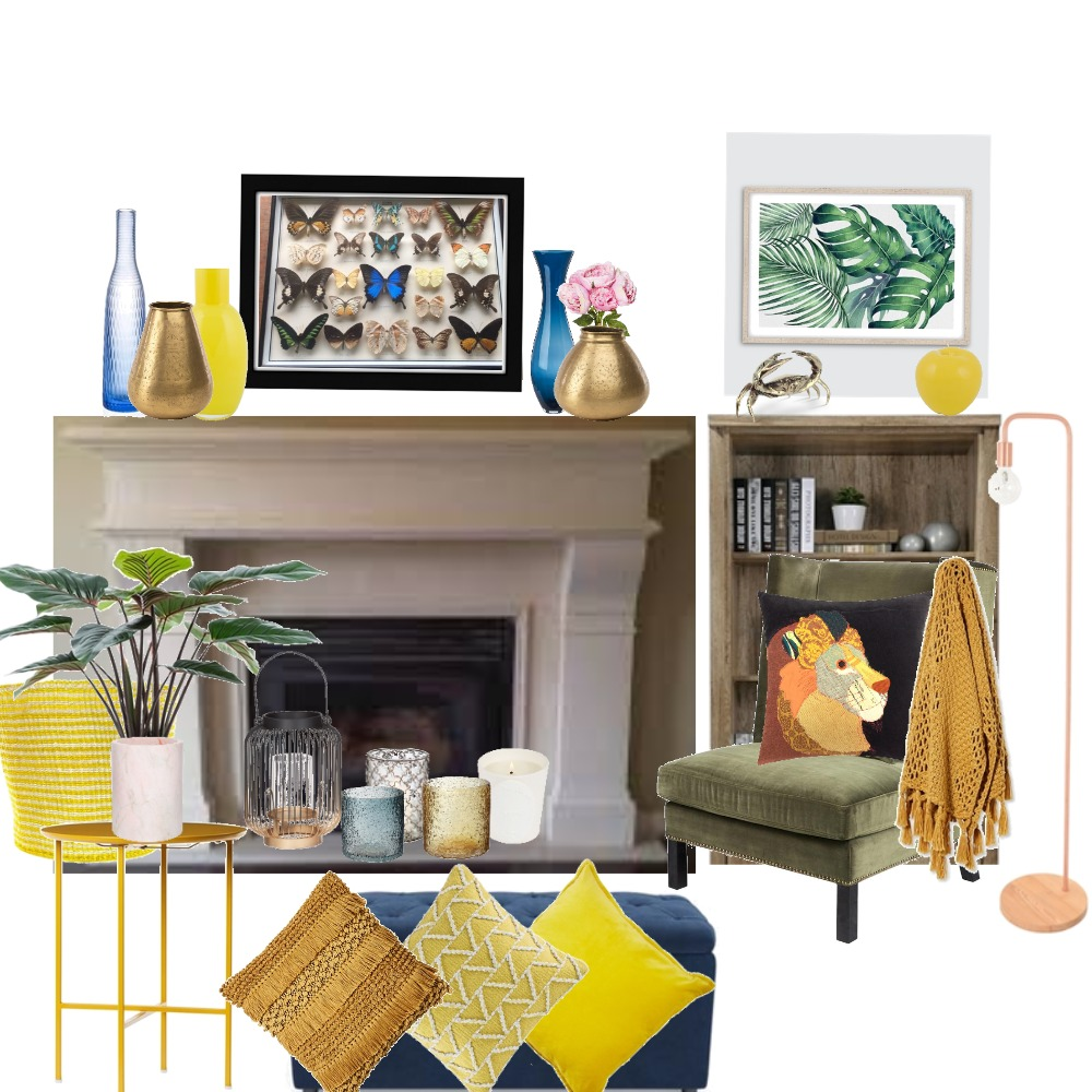 eclectic reading nook Interior Design Mood Board by lizflavall on Style Sourcebook