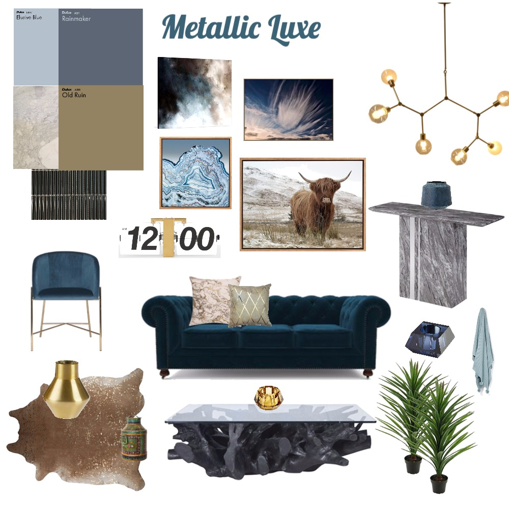 Metallic Luxe Interior Design Mood Board by Danant on Style Sourcebook