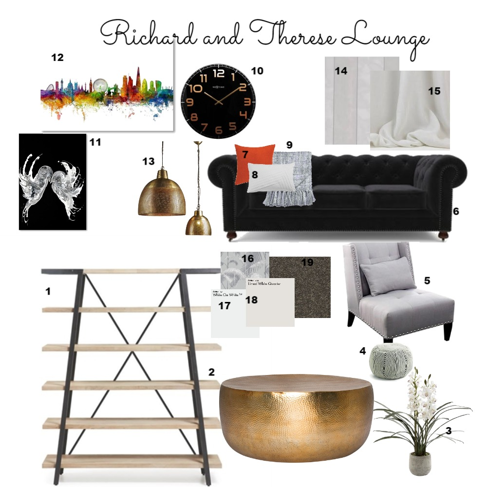 Lounge Interior Design Mood Board by hclapham on Style Sourcebook