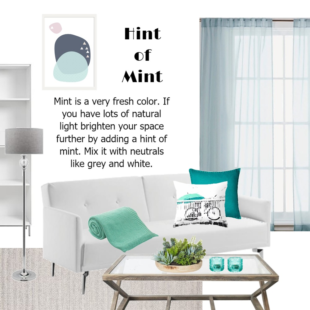 Mint. Bright. Living Space. Interior Design Mood Board by Cassandra on Style Sourcebook