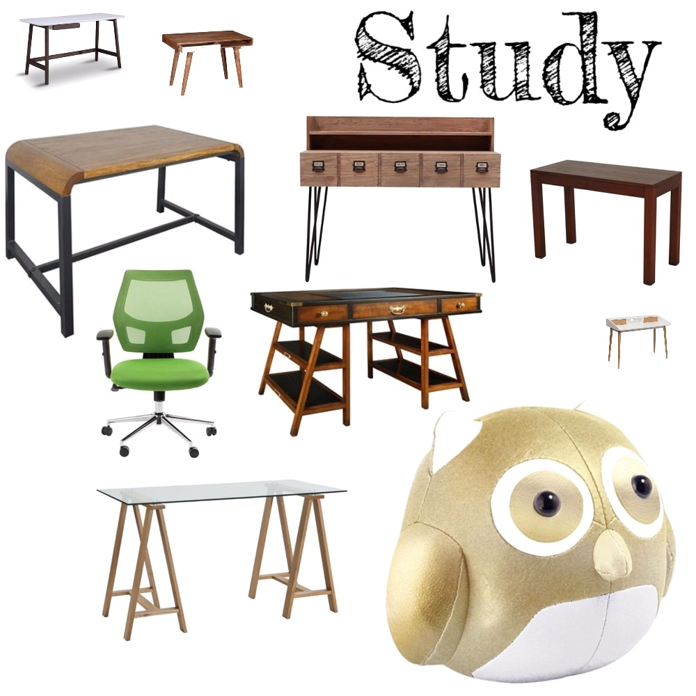 Study Interior Design Mood Board by Pizzuti on Style Sourcebook
