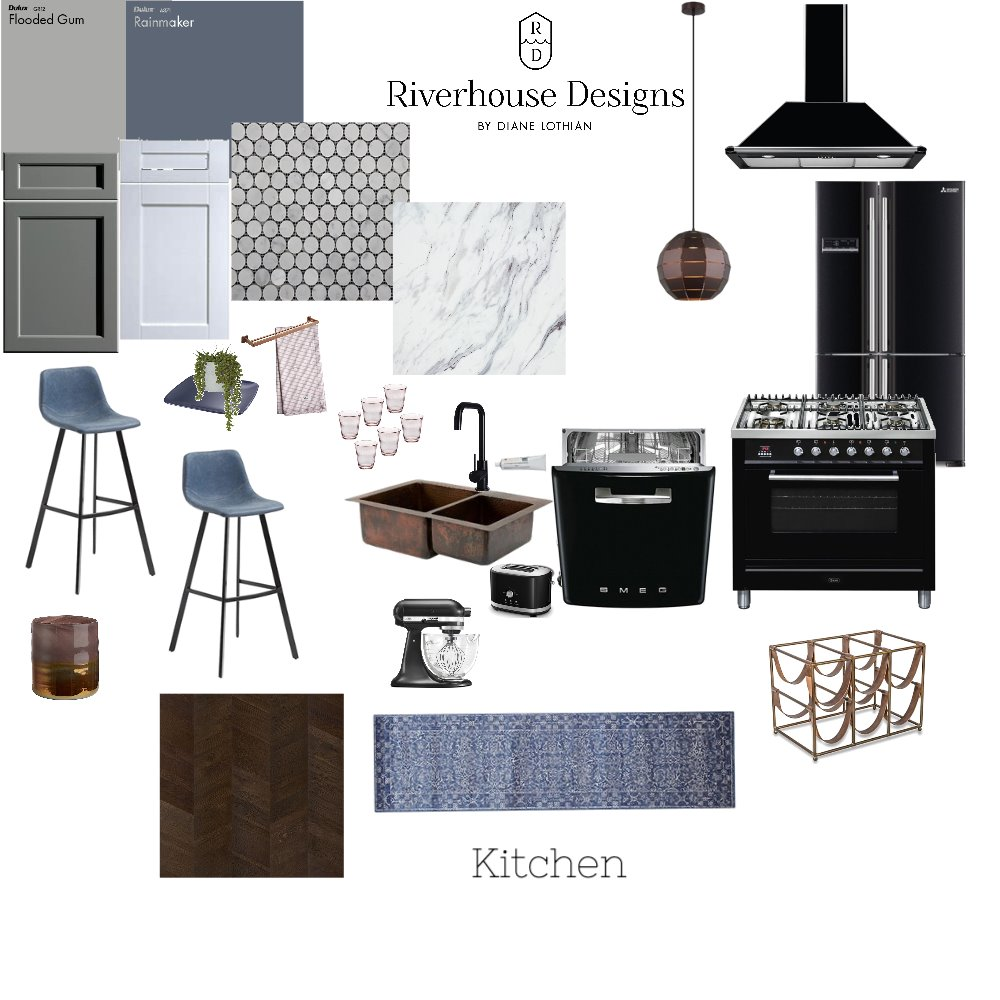IDI ASS 9 Kitchen Interior Design Mood Board by Riverhouse Designs on Style Sourcebook