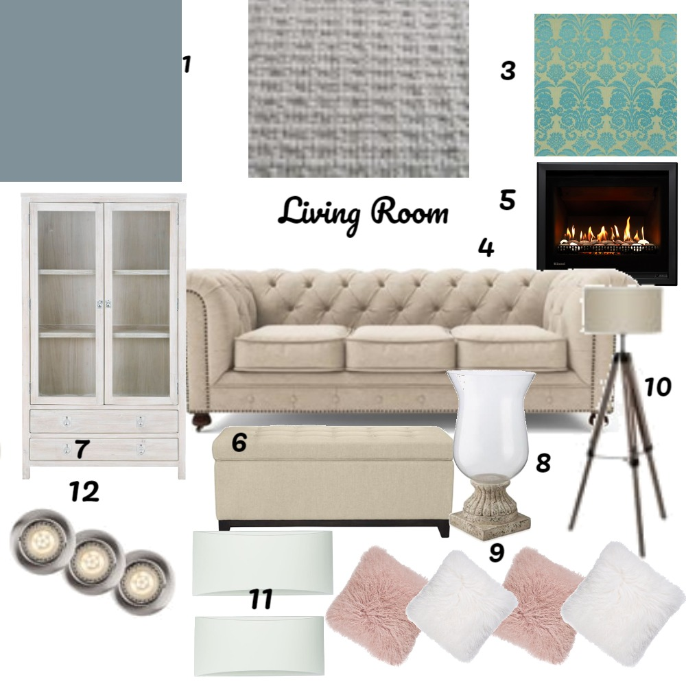 Assignment 9 Living Room Interior Design Mood Board by matilda on Style Sourcebook