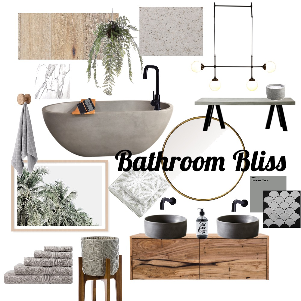 Bathroom Bliss Interior Design Mood Board by ClaireT on Style Sourcebook