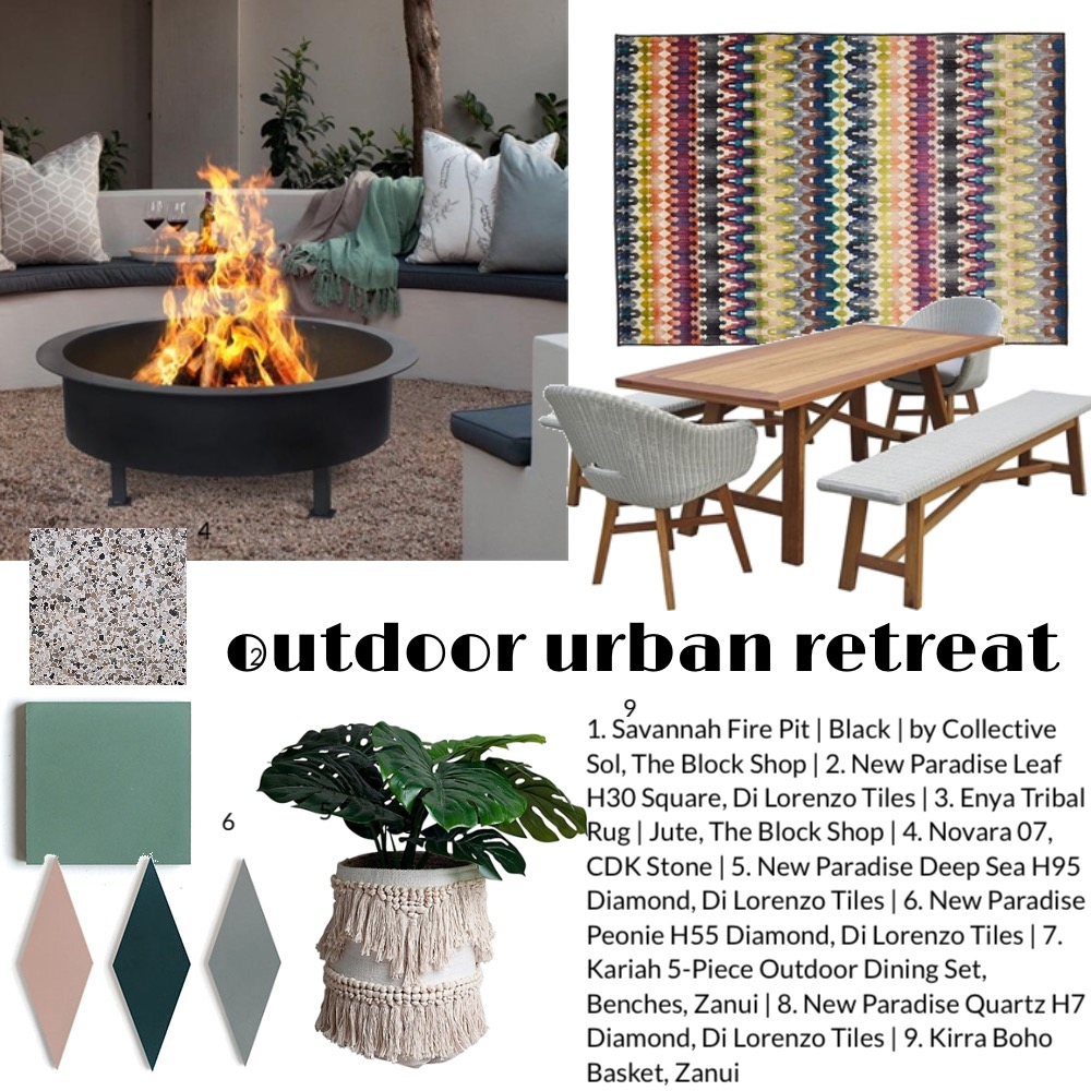 Outdoor Urban Interior Design Mood Board by Shanna McLean on Style Sourcebook