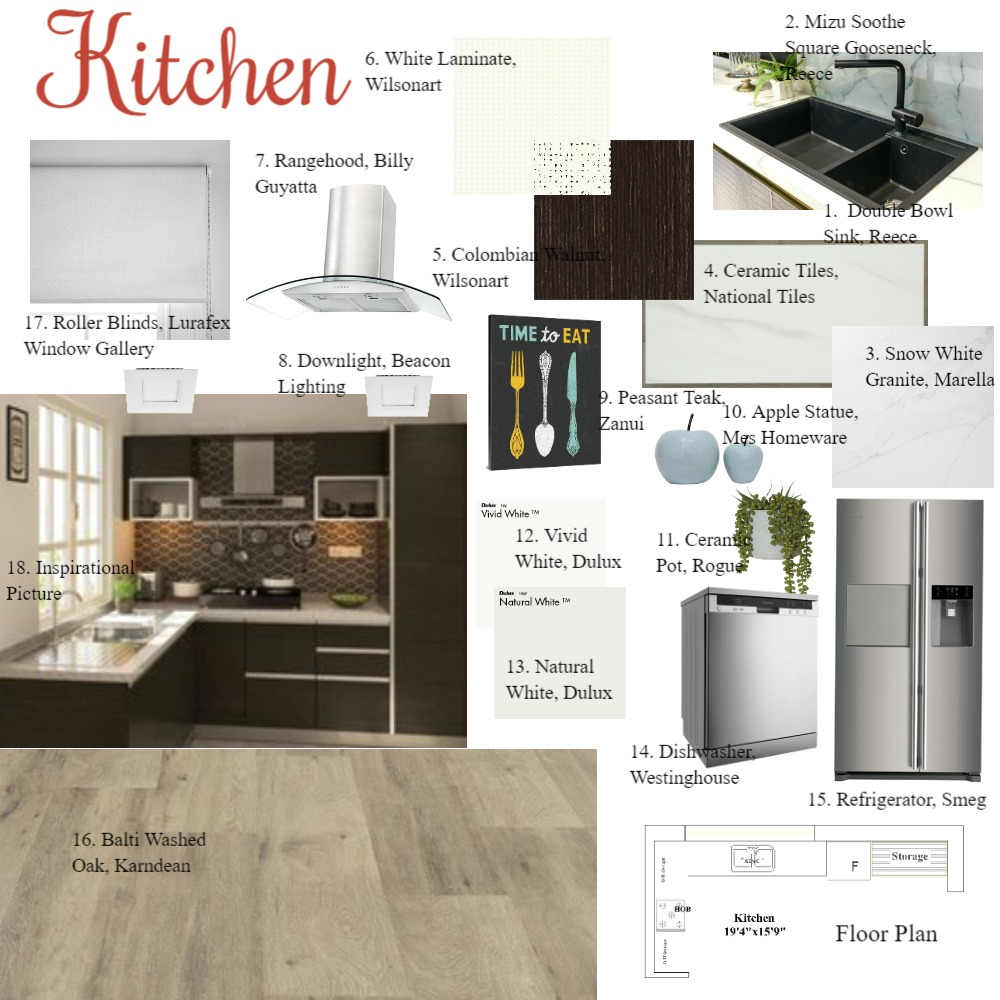 Kitchen Interior Design Mood Board by Bhakti Mehta on Style Sourcebook
