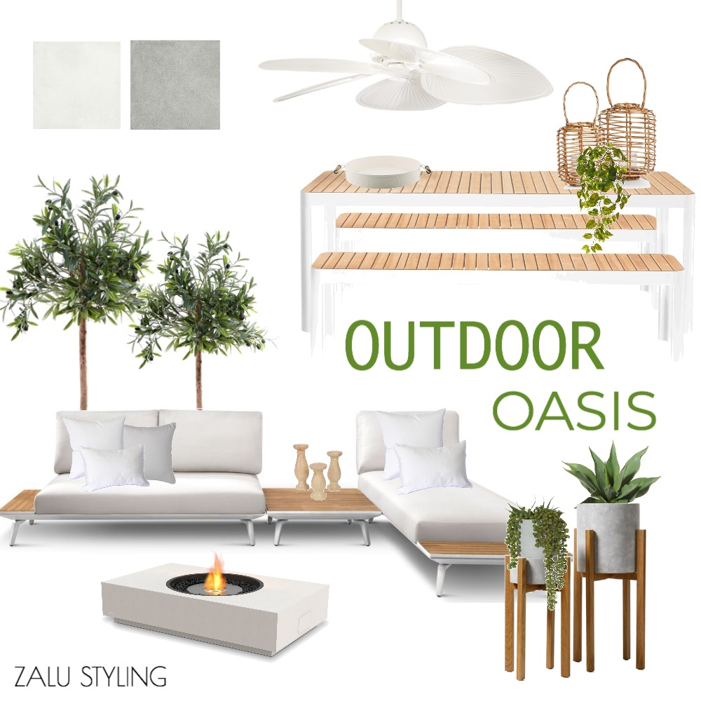 OUTDOOR OASIS Interior Design Mood Board by BecStanley on Style Sourcebook