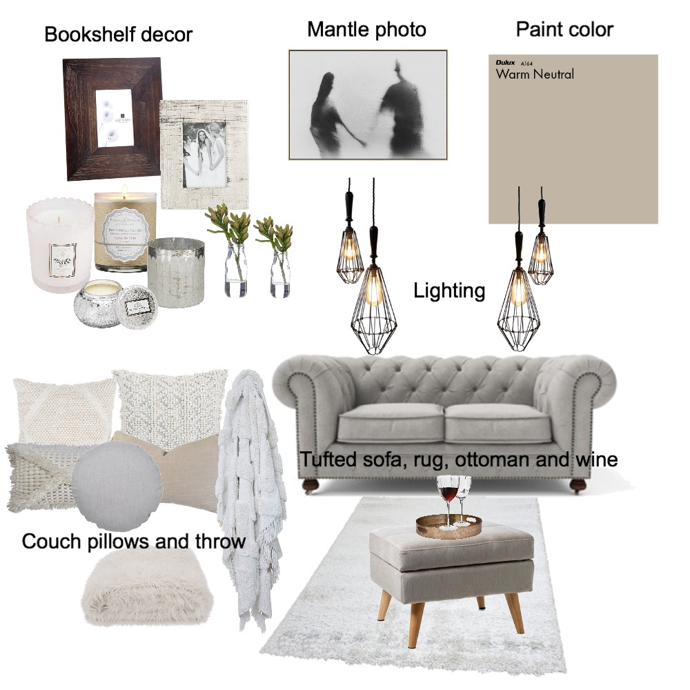 Cool to intimate Interior Design Mood Board by BrittaniRobinson on Style Sourcebook