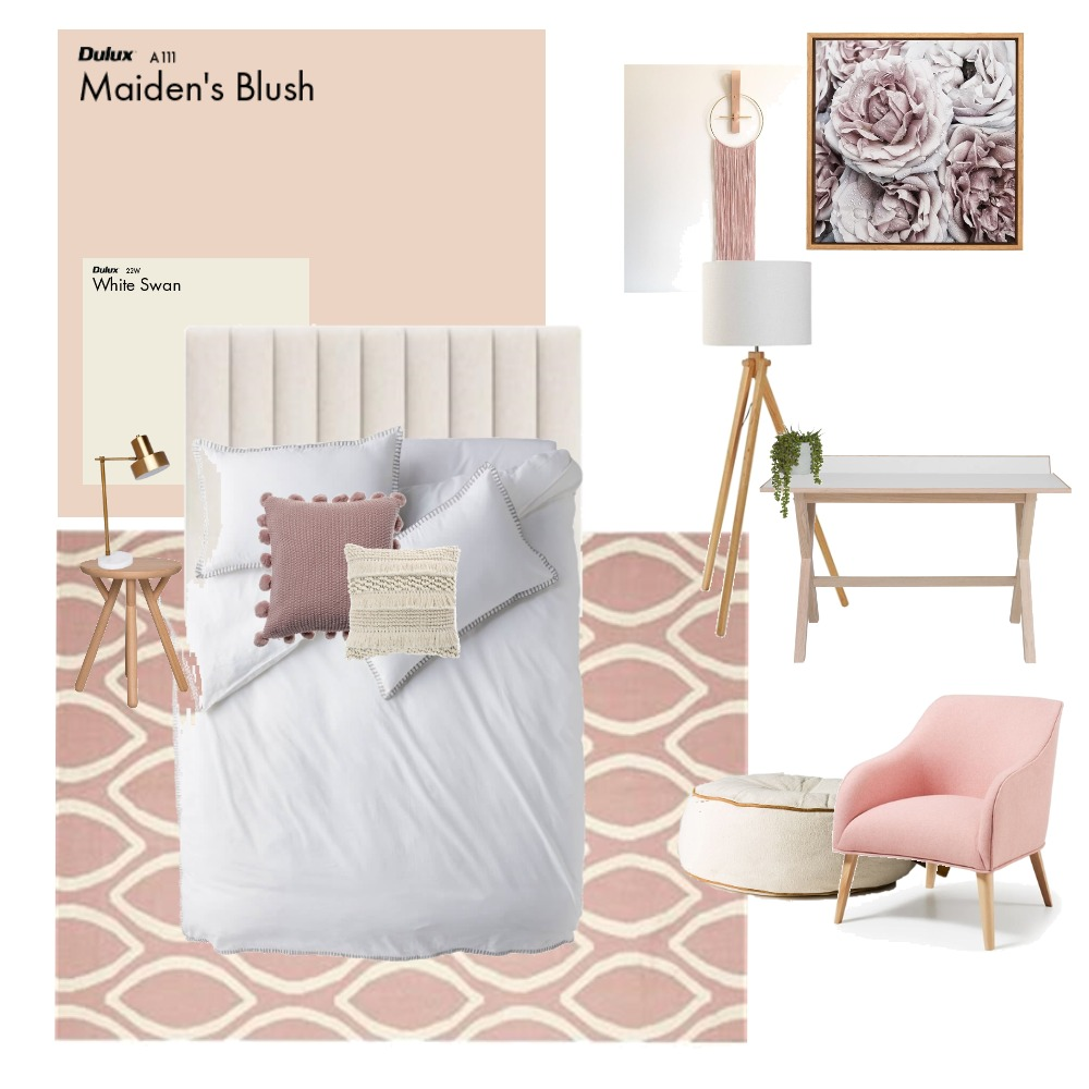 isabella's bedroom Interior Design Mood Board by the kit design co on Style Sourcebook