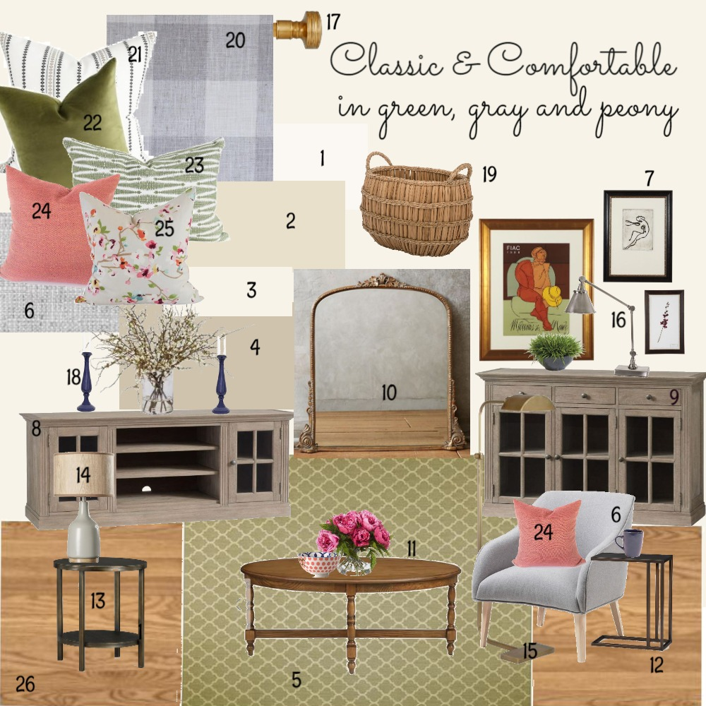 Scott Family Room Casual and Transitional Interior Design Mood Board by dorothy on Style Sourcebook