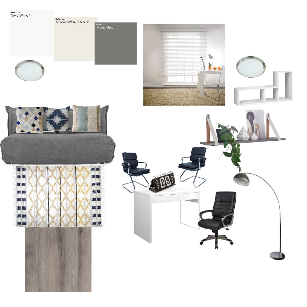 study room/ office Interior Design Mood Board by merylmaulion on Style Sourcebook