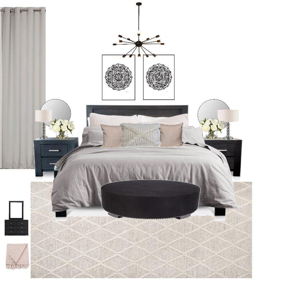 Black Bedroom set decor Interior Design Mood Board by sarahmarqz on Style Sourcebook