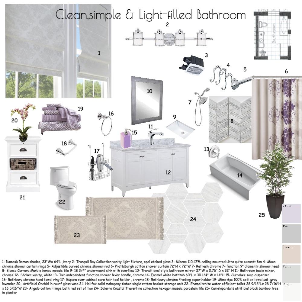 bathroom Interior Design Mood Board by designbyGulnara on Style Sourcebook