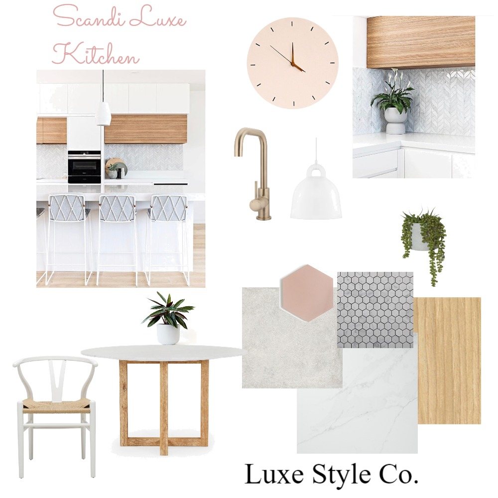 Scandi Luxe Kitchen Interior Design Mood Board by Luxe Style Co. on Style Sourcebook