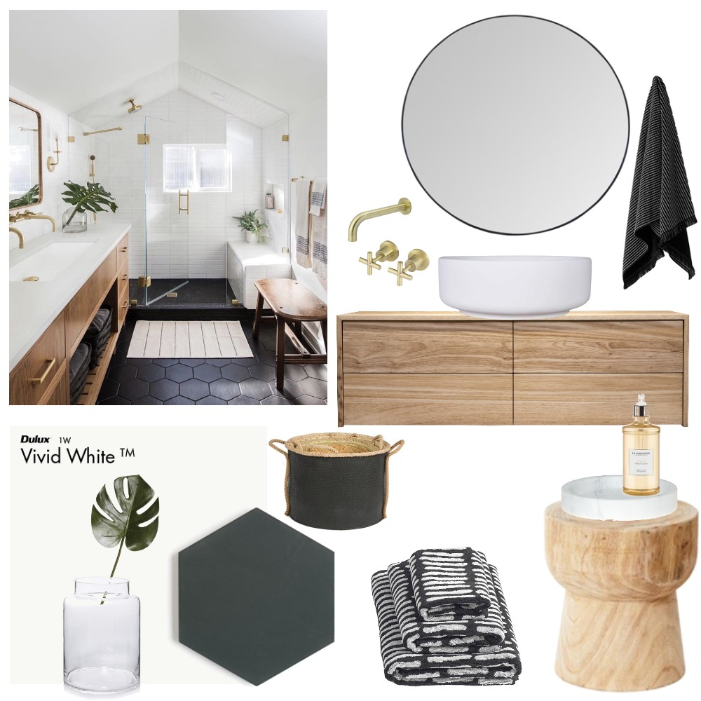 Golden Accents Interior Design Mood Board by Vienna Rose Styling on Style Sourcebook