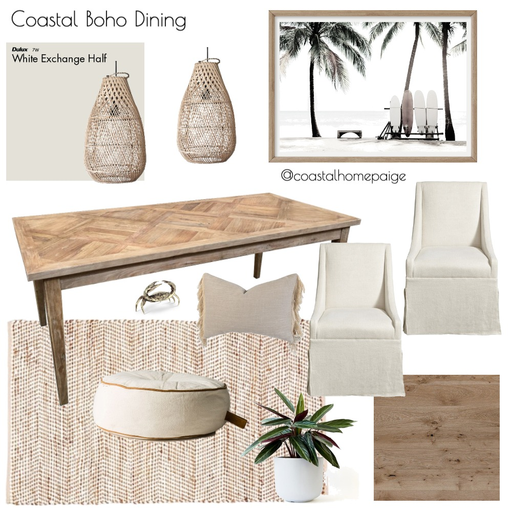 Coastal Dining Interior Design Mood Board by CoastalHomePaige on Style Sourcebook