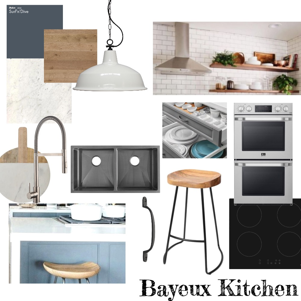 Bayeux Kitchen Interior Design Mood Board by Tivoli Road Interiors on Style Sourcebook