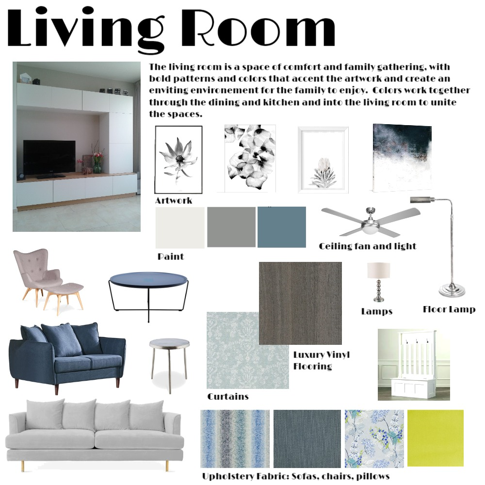 Living Room Interior Design Mood Board by JayWilcox on Style Sourcebook