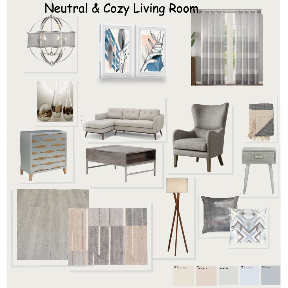 Living Room Interior Design Mood Board by designbyGulnara on Style Sourcebook