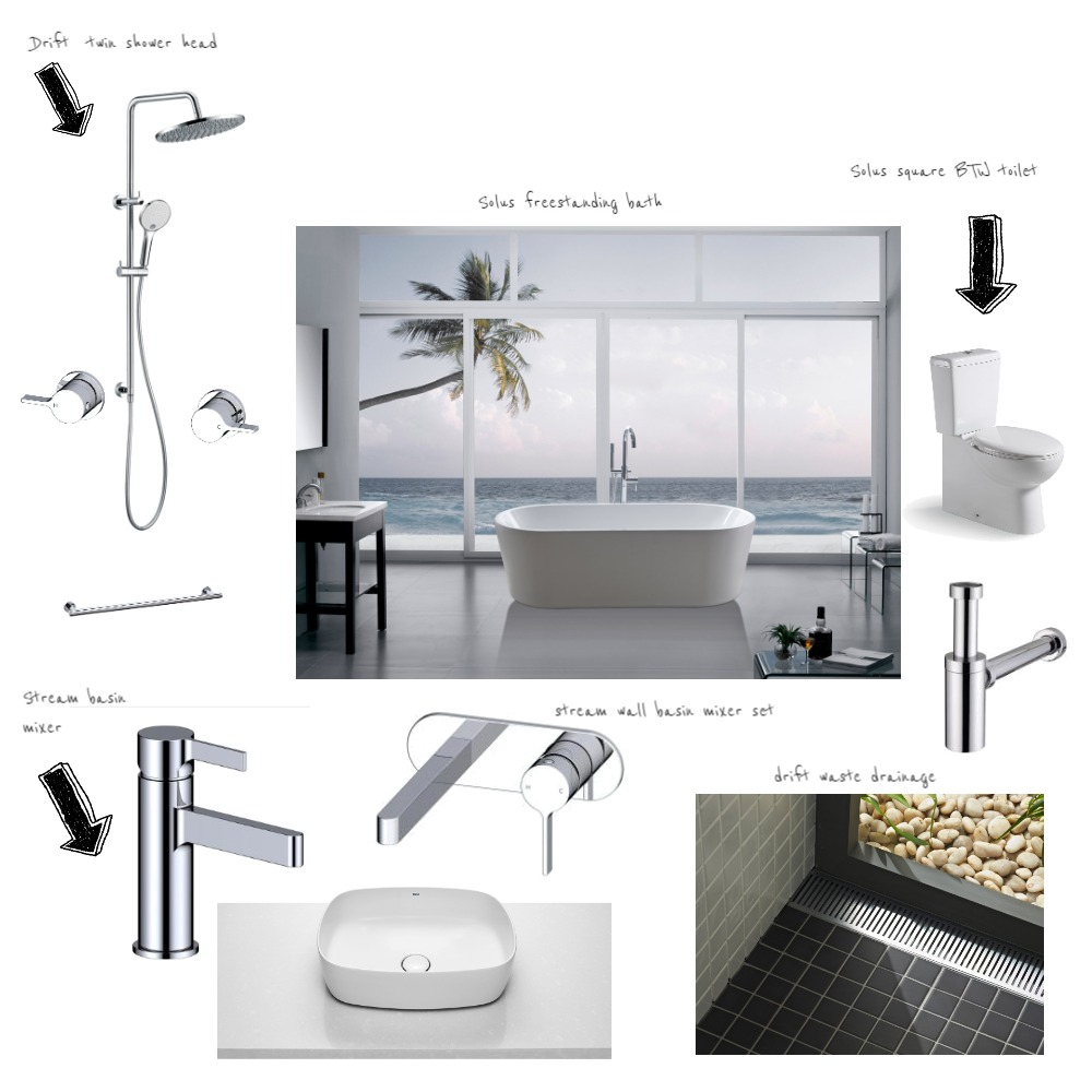 bathroom Interior Design Mood Board by AM Interior Design on Style Sourcebook