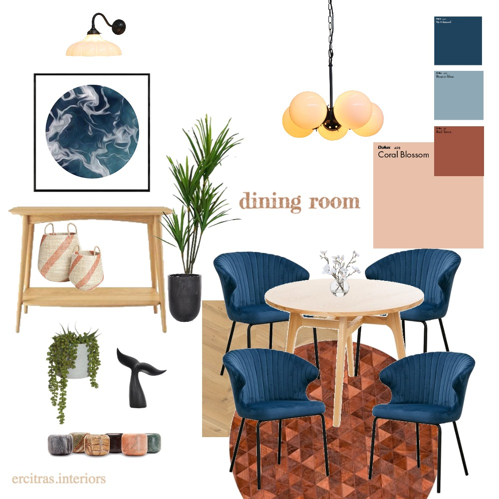 The Smith's Dining Room Interior Design Mood Board by KUTATA Interior Styling on Style Sourcebook