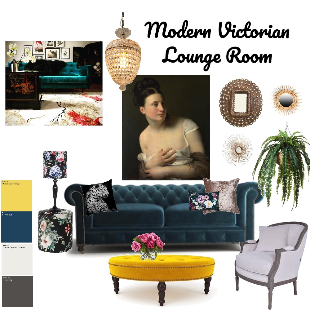 Modern Victorian Lounge Room Interior Design Mood Board by kime7345 on Style Sourcebook