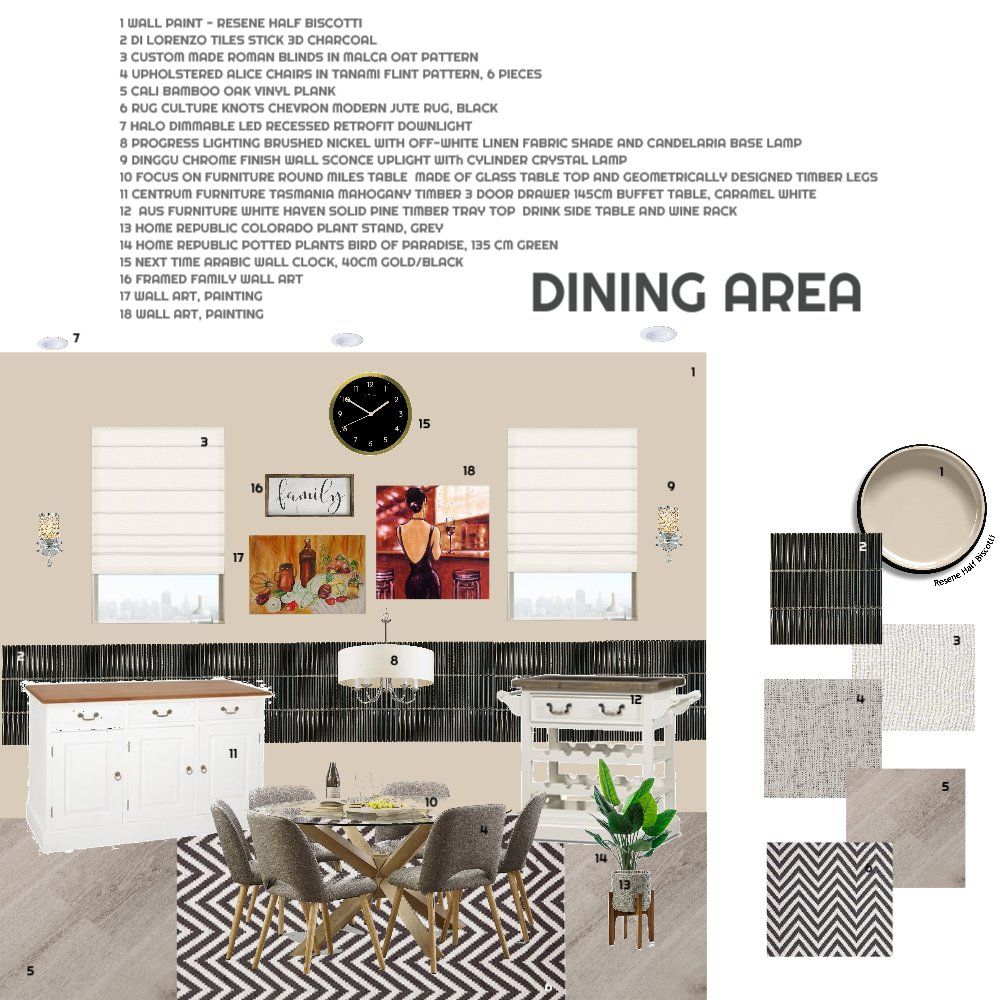 DINING AREA RENO Interior Design Mood Board by id_exell on Style Sourcebook