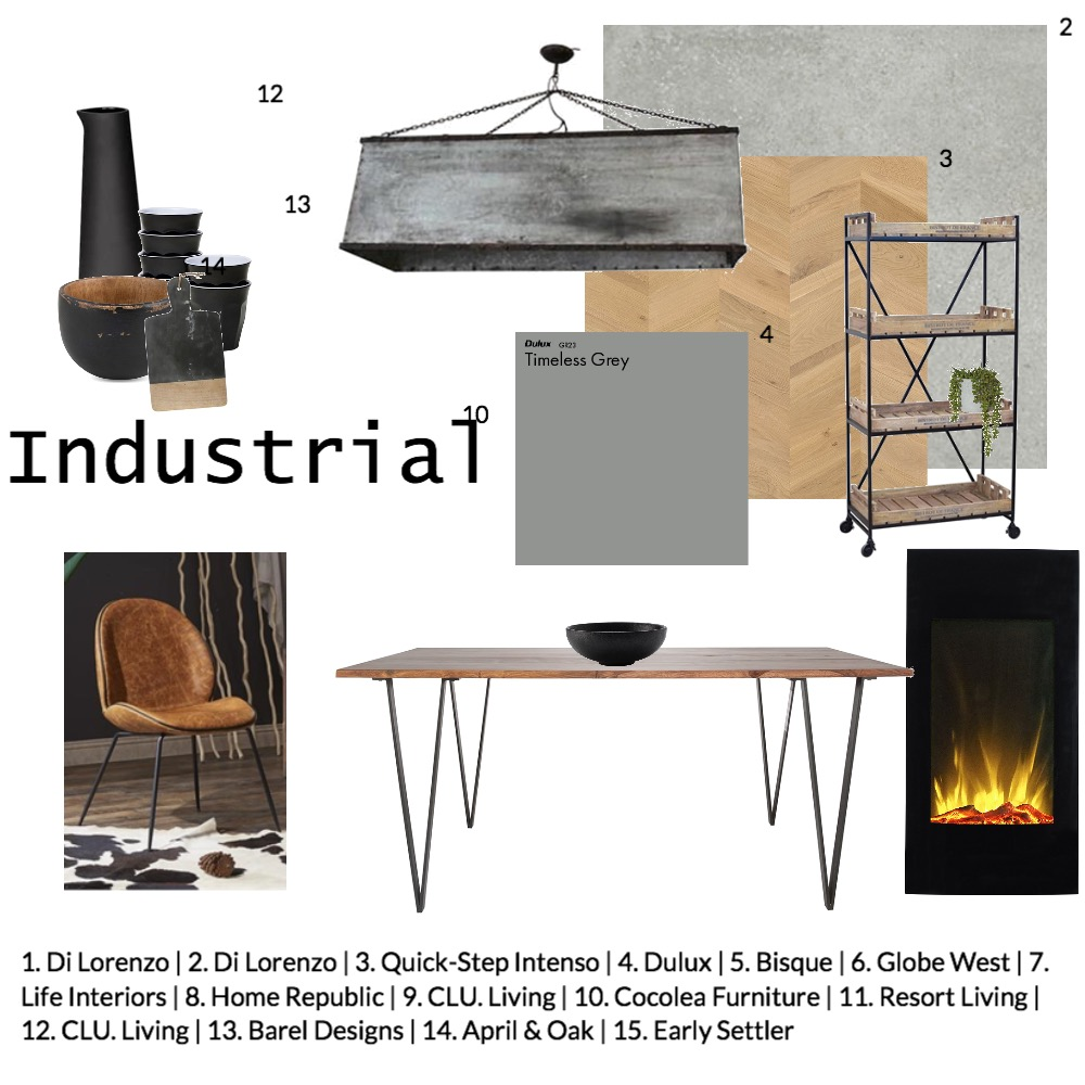 industrial Interior Design Mood Board by jwestpo on Style Sourcebook